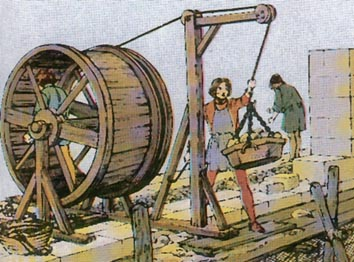 Bautechniken im mittelalter for Fachwerk kran
